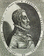 Fernando Francesco d'Ávalos, Marquess of Pescara, (1489 – December 1525) was an Italian condottiero. General of the Spanish army, in the Italian Wars. At the Battle of Ravenna in 1512 he was taken prisoner by the French, but was released at the conclusion of the War of the League of Cambrai. He was the chief commander of the Habsburg armies in Italy during the Habsburg-Valois Wars.