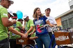 Fans and Frutabela hostess during 5th Time Trial Stage of 25th Tour de Slovenie 2018 cycling race between Trebnje and Novo mesto (25,5 km), on June 17, 2018 in  Slovenia. Photo by Matic Klansek Velej / Sportida