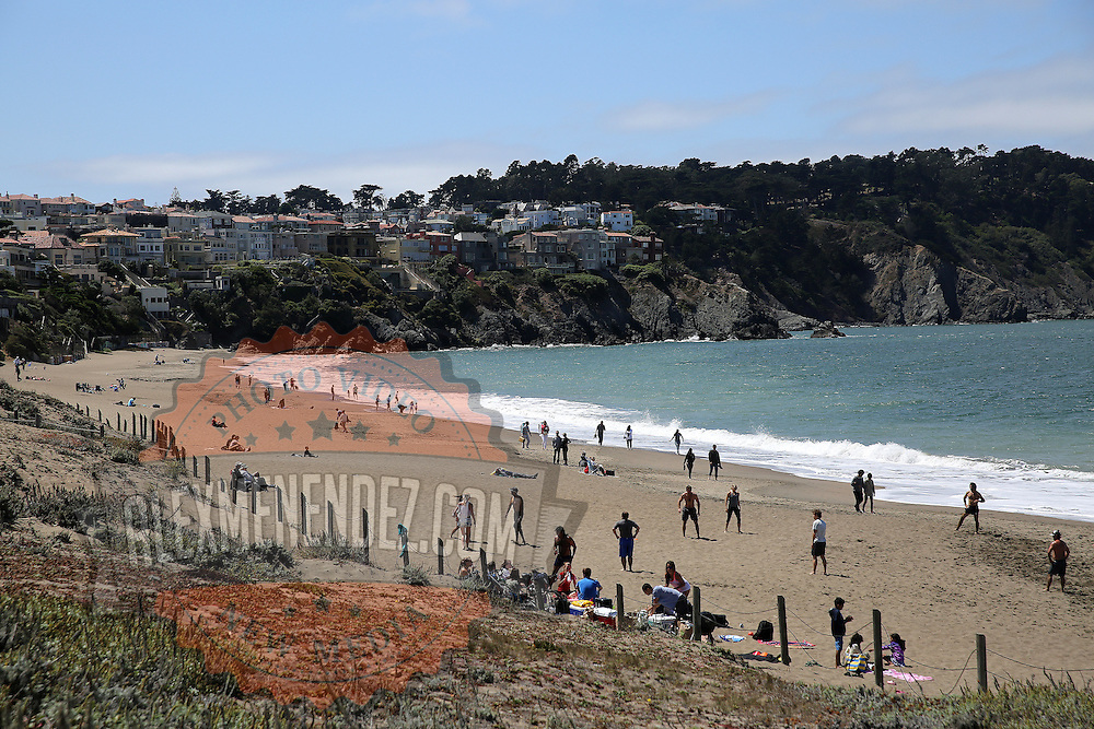 A general view of Baker Beach in San Francisco, California on Sunday, August 24, 2014. (AP Photo/Alex Menendez)