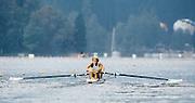 Bled, Slovenia, YUGOSLAVIA. GBR M2-, Bow, Simon BERRISFORD, Stroke Steven REDGRAVE. Coxless Pair .1989 World Rowing Championships, Lake Bled. [Mandatory Credit. Peter Spurrier/Intersport Images]