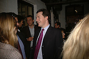 George Osborne, BOOK PARTY FOR TABATHA'S CODE BY MATTHEW D'ANCONA. Spectator. Doughty St. London. 11 May 2006. ONE TIME USE ONLY - DO NOT ARCHIVE  © Copyright Photograph by Dafydd Jones 66 Stockwell Park Rd. London SW9 0DA Tel 020 7733 0108 www.dafjones.com