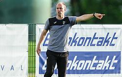 Rok Hanzic, head coach of Kalcer Radomlje during football match between NK Kalcer Radomlje and NK Brezice Terme Catez in 20th Round of 2. SNL 2020/21, on May 15, 2021 in Sports park Radomlje, Slovenia. Photo by Vid Ponikvar / Sportida
