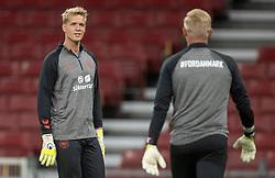 Jonas Lössl (Danmark) under UEFA Nations League kampen mellem Danmark og England den 8. september 2020 i Parken, København (Foto: Claus Birch).