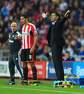 Manager of Sunderland, Gus Poyet appeals to the referee - Sunderland vs. Everton - Barclay's Premier League - Stadium of Light - Sunderland - 09/11/2014 Pic Philip Oldham/Sportimage
