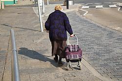 Elderly woman Aberystwyth Wales