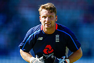 England T20 wicket keeper Jos Butler warming up  during the International T20 match between England and India at Old Trafford, Manchester, England on 3 July 2018. Picture by Simon Davies.