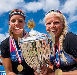 Katja Stam, Raïsa Schoon win the final 2-1. The Final Day of the DELA NK Beach volleyball for men and women will be played in The Hague Beach Stadium on the beach of Scheveningen on 23 July 2020 in Zaandam.