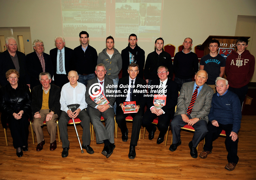 """02-12-11. Trim GAA Club Launch of """"Wielding the Ash, Kicking the Leather, A history of Trim GAA 1896 to 2006"""" book Launch at Trim GAA Centre.<br /> <br /> Photo: John Quirke / www.quirke.ie<br /> ©John Quirke Photography, Unit 17, Blackcastle Shopping Centre. Co. Meath. 046-9079044 / 087-2579454."""