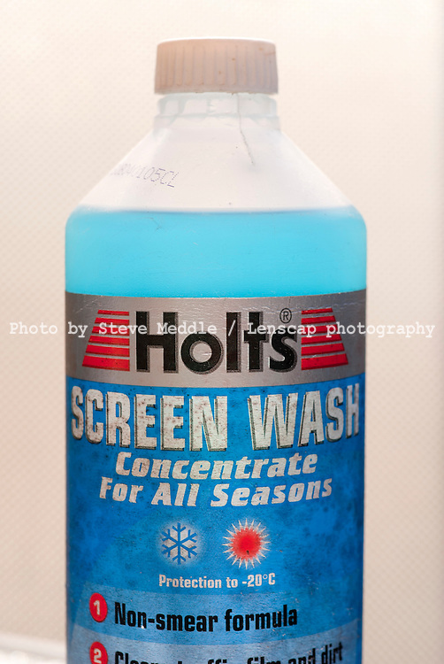 Bottle of Holts Windscreen Wash - 14th June 2010..Car Windscreen wiper water may be the cause of 20% of cases of Legionnaires' Disease studies have shown, but by adding Screen Wash fluid to the water this kills the bacteria in the tank and eliminates the chance of any infection..The problem occurs when the water is sprayed on the windscreen and the spray enters the vehicle by passing through an open window or into the ventilation system and is then inhaled.