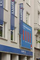 02 MAY 2002, BERLIN/GERMANY:<br /> Aussenansicht der Kampa02, der Wahlkampfzentrale der SPD fuer die Bundestagswahl 2002, Oranienburger Strasse 67/68, Berlin-Mitte<br /> IMAGE: 20020502-01-003<br /> KEYWORDS: Kampa 02, Logo, Haus, house, Schriftzug