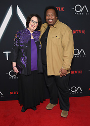 """Netflix's """"The OA Part II"""" premiere held at LACMA. 19 Mar 2019 Pictured: Phyllis Smith and Leslie David Baker. Photo credit: O'Connor/AFF-USA.com / MEGA TheMegaAgency.com +1 888 505 6342"""