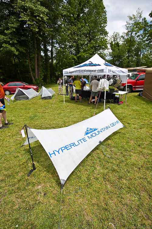 The hyper light booth at Trail Days, Damascus, Virginia.