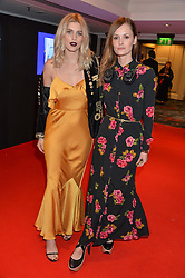 Left to right, ASHLEY JAMES and CHARLOTTE DE CARLE at the Chain of Hope Gala Ball held at The Grosvenor House Hotel, Park Lane, London on 18th November 2016.