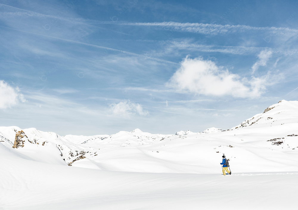Skier exploring the backcountry