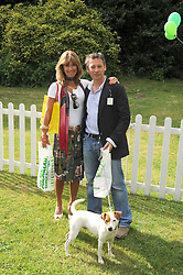CLARE COPEMAN chairman of Dog Day and DEXTER FLETCHER at the Macmillan Dog Day in aid of Macmillan Cancer Support held at the Royal Hospital Chelsea, London on 8th July 2008.<br />