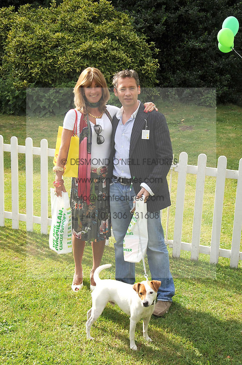 CLARE COPEMAN chairman of Dog Day and DEXTER FLETCHER at the Macmillan Dog Day in aid of Macmillan Cancer Support held at the Royal Hospital Chelsea, London on 8th July 2008.<br /><br />NON EXCLUSIVE - WORLD RIGHTS