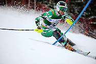 12 MAR 2011: Skiers compete in the men's slalom alpine race during the 2011 NCAA Men and Women's Division I Skiing Championship held Stowe Mountain Resort and Trapp Family Lodge in Stowe, VT. ©Brett Wilhelm/NCAA Photos