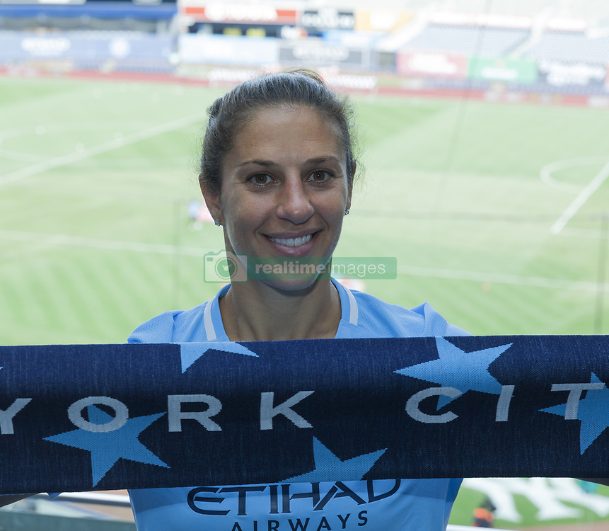 August 6, 2017 - New York, United States - American soccer player Carli Lloyd 2 time Olympic gold medalist attends MLS game between New York Red Bulls & NYC FC on Yankee Stadium NYC FC won 3 - 2 (Credit Image: © Lev Radin/Pacific Press via ZUMA Wire)
