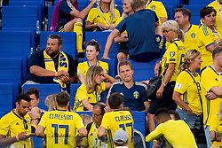 July 7, 2018 - Samara, Russia - 180707 Ludwig Augustinsson looks dejected together with the supporters of Sweden after the FIFA World Cup quarter final match between Sweden and England on Jul 7, 2018 in Samara..Photo: Ludvig Thunman / BILDBYRÃ…N / kod LT / 92083 (Credit Image: © Ludvig Thunman/Bildbyran via ZUMA Press)