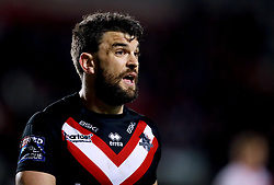 London Broncos' Elliot Kear in action against St Helens Saints, during the Betfred Super League match at the Totally Wicked Stadium, St Helens.