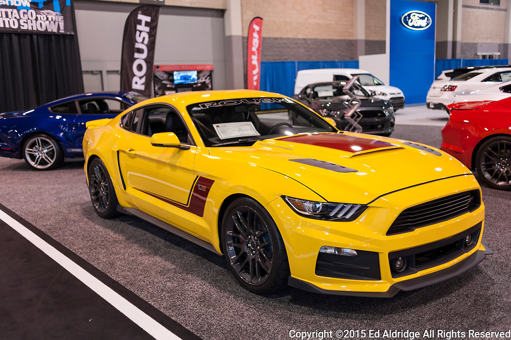 CHARLOTTE, NC, USA - November 11, 2015: Roush Ford Mustang RS-3 on display during the 2015 Charlotte International Auto Show at the Charlotte Convention Center in downtown Charlotte.
