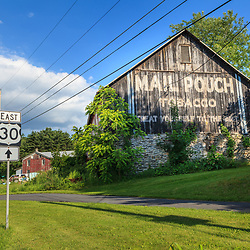 Ortanna, PA, USA- June 2, 2012: An older Mail Pouch Barn along Route 30 Lincoln Highway in Adams County, PA.