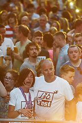 © Licensed to London News Pictures. 27/06/2015. Witney, Oxfordshire. MAUREEN BAKER (mum), PAUL BAKER (dad).. 3000 attended the very first Lib Fest that took place in memory of Witney schoolgirl Liberty Baker who was killed on the way to school by 18 year old driver Robert Blackwell. PAUL BAKER, the father of Liberty was accused by Police of harassing the Blackwell family and was due in front of magistrates, but it was dropped at the last minute. Photo credit : MARK HEMSWORTH/LNP