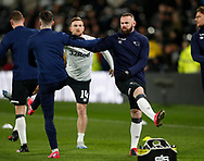 Wayne Rooney of Derby County warms up before the FA Cup match at the Pride Park Stadium, Derby. Picture date: 5th March 2020. Picture credit should read: Darren Staples/Sportimage