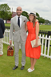 DRUMMOND MONEY-COUTTS and his sister SOPHIA MONEY-COUTTS at the Cartier Queen's Cup Final 2016 held at Guards Polo Club, Smiths Lawn, Windsor Great Park, Egham, Surry on 11th June 2016.