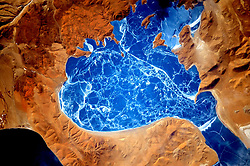 January 6, 2016 - Earth Atmosphere - Earth observation taken during a day pass by the Expedition 46 crew aboard the International Space Station (ISS). Astronaut Scott Kelly posted this photo on Twitter with the caption, Cool frozen lake in Himalayas! YearInSpace (Credit Image: ? Scott Kelly/NASA via ZUMA Wire/ZUMAPRESS.com)