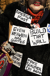 March 23, 2019 - New York, New York, U.S. - Approximately 300 Trump supporters gathered outside Trump Tower on 5th Avenue in Manhattan to celebrate the end of the Mueller Probe. (Credit Image: © Go Nakamura/ZUMA Wire)