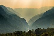Gorge in the Reiek mountains, Mizoram, India