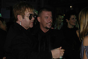 Sir Elton John and Alexander Mcqueen, The 7th GQ Man of the Year Awards, Royal Opera House. 7 September 2004. In association with Armani Mania. SUPPLIED FOR ONE-TIME USE ONLY-DO NOT ARCHIVE. © Copyright Photograph by Dafydd Jones 66 Stockwell Park Rd. London SW9 0DA Tel 020 7733 0108 www.dafjones.com