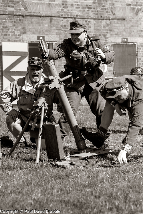 gebirgsjäger Mortar crew Fort Paull Bankholiday Weekend<br /> <br />    07 May 2018 <br />   Copyright Paul David Drabble<br />   www.pauldaviddrabble.co.uk
