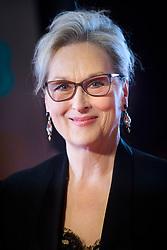 Meryl Streep attending the EE British Academy Film Awards held at the Royal Albert Hall, Kensington Gore, Kensington, London. Picture date: Sunday February 12th, 2017. Photo credit should read: Matt Crossick/ EMPICS Entertainment.