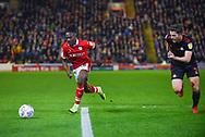 Jordan Green of Barnsley (15) is chased by Adam Matthews of Sunderland (2) during the EFL Sky Bet League 1 match between Barnsley and Sunderland at Oakwell, Barnsley, England on 12 March 2019.