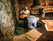 Baking bread Traditional Armenian Cooking