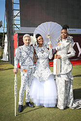 07062018 (Durban)  arriving in style the adrenaline of Vodacom Durban July flowing like water among the massive crowd expected at Greyville Racecourse in Durban for the running of the R4.25 million, Grade 1, Vodacom Durban July, the greatest racing, fashion and entertainment extravaganza on the African continent.<br /> Picture: Motshwari Mofokeng/African News Agency/ANA