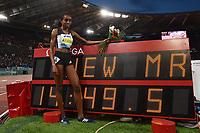 Almaz AYANA ETH 5000m Women Winner New meeting record <br /> Roma 03-06-2016 Stadio Olimpico <br /> IAAF Diamond League Golden Gala <br /> Atletica Leggera<br /> Foto Andrea Staccioli / Insidefoto