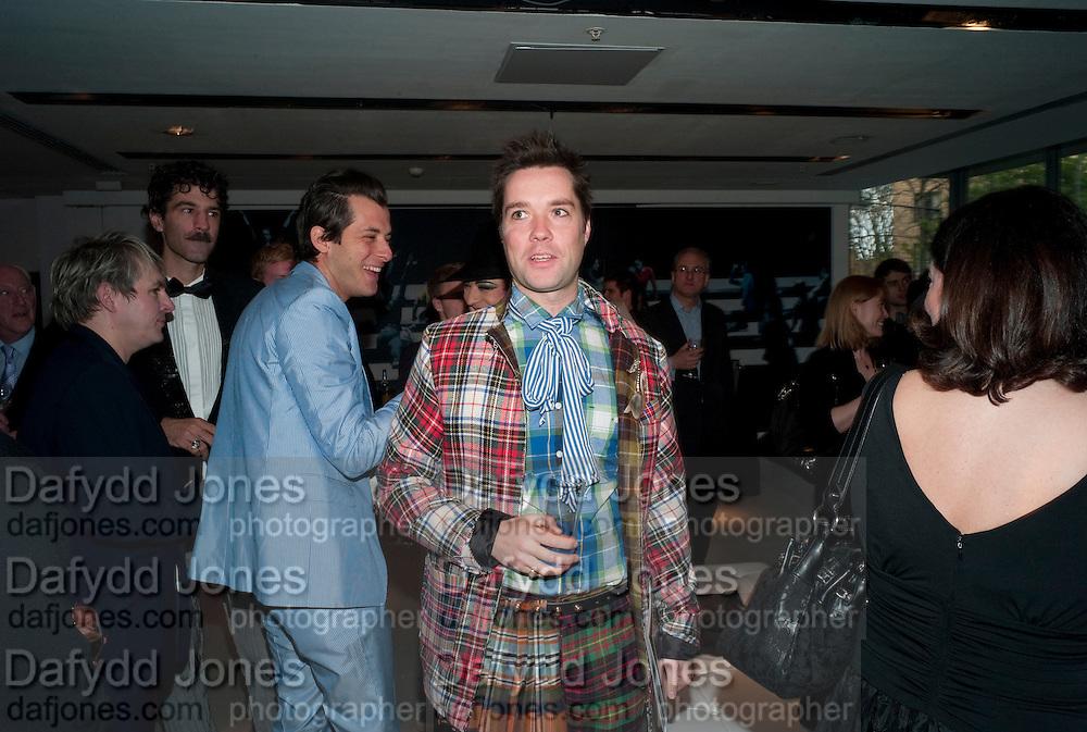MARK RONSON; RUFUS WAINWRIGHT, Prima Donna opening night. Sadler's Wells Theatre, Rosebery Avenue, London EC1, Premiere of Rufus Wainwright's opera. 13 April 2010