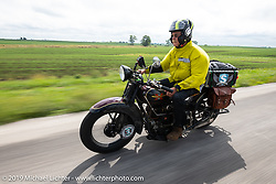 Bryan Bossier Sr riding his 1930 Henderson 4-cylinder KL in the Cross Country Chase motorcycle endurance run from Sault Sainte Marie, MI to Key West, FL (for vintage bikes from 1930-1948). Stage 3 from Milwaukee, WI to Urbana, IL. USA. Sunday, September 8, 2019. Photography ©2019 Michael Lichter.