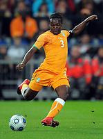 Fotball<br /> Tyskland v Elfenbenskysten<br /> Foto: Witters/Digitalsport<br /> NORWAY ONLY<br /> <br /> 18.11.2009<br /> <br /> Arthur Boka<br /> Fussball Elfenbeinkueste<br /> Fussball Testspiel Deutschland - Elfenbeinkueste 2:2