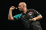 Rob Cross during the PDC World Darts Championship at The MotorPoint Arena, Cardiff. Pictures taken by Shane Healey.