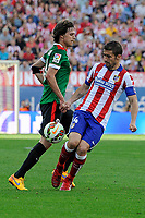 Atletico de Madrid´s Gabi and Athletic Club´s Ander Iturraspe during 2014-15 La Liga match between Atletico de Madrid and Athletic Club at Vicente Calderon stadium in Madrid, Spain. May 02, 2015. (ALTERPHOTOS/Luis Fernandez)