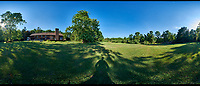 Panorama (360-degree) View of My Backyard. Composite of 37 images taken with a Fuji X-T1 camera and Bower 8 mm f/2.8 fisheye lens (ISO 200, 8 mm, f/16, 1/30 sec). Raw images processed with Capture One Pro and AutoPano Giga Pro.