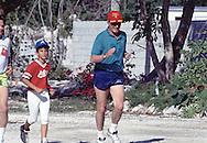 George Hubert Walker Bush on vacation at Isamorada, Florida in May 1990....Photograph by Dennis Brack BB19