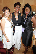24 June 2010- Miami Beach, Florida-l to r: Dolly Turner, Jocelyn Taylor, Vern Goff at the The 2010 American Black Film Festival Founder's Brunch held at Emeril's on June 24, 2010. Photo Credit: Terrence Jennings/Sipa