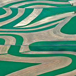 Aerial view of Farms in the United States