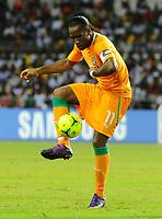 fotball<br /> Didier Drogba Cote D Ivoire Cote D Ivoire Mali Coupe D Afrique the Nations  08 02 2012<br /> Norway only