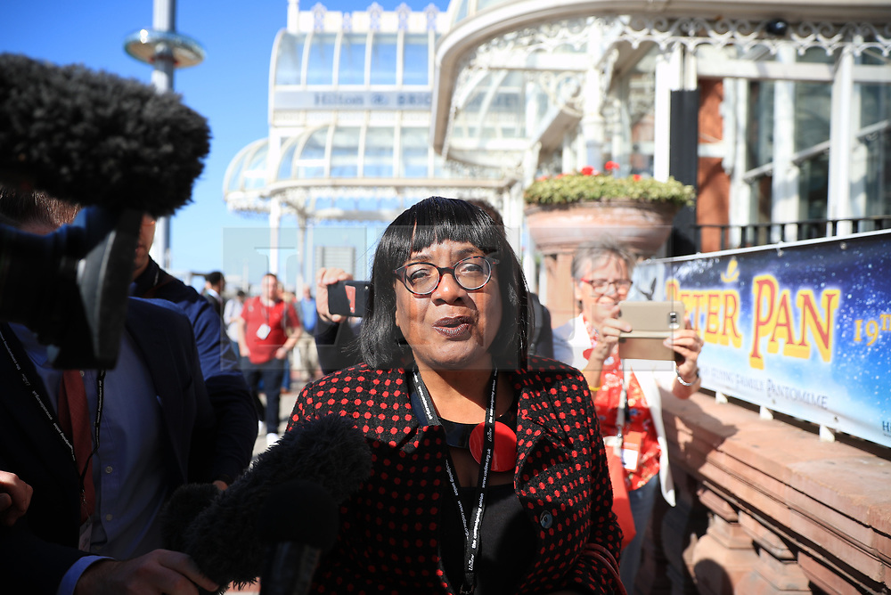 © Licensed to London News Pictures . 21/09/2019. Brighton, UK. DIANE ABBOTT leaves a meeting of the NEC. JThe 2019 Labour Party Conference from the Brighton Centre . Photo credit: Joel Goodman/LNP